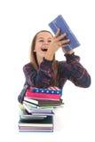 σχολείο κοριτσιών βιβλί&om Στοκ εικόνα με δικαίωμα ελεύθερης χρήσης