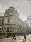 Σχολείο κρατικού νόμου της άποψης προοπτικής του Μοντεβίδεο Στοκ Φωτογραφία