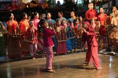 Σχολείο μουσικής πακέτων Ujo Angklung σε Bandung Στοκ Φωτογραφία