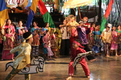 Σχολείο μουσικής πακέτων Ujo Angklung σε Bandung Στοκ Φωτογραφίες