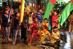 Σχολείο μουσικής πακέτων Ujo Angklung σε Bandung Στοκ Εικόνες