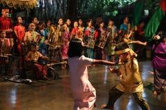Σχολείο μουσικής πακέτων Ujo Angklung σε Bandung Στοκ Εικόνα
