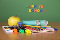 Σχολείο που τίθεται για την επιστολή και το σχέδιο Στοκ Εικόνες