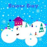 Σχολείο χιονιού Day/No Στοκ Εικόνες