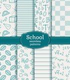 Σχολικά άνευ ραφής σχέδια πολικό καθορισμένο διάνυσμα καρδιών κινούμενων σχεδίων Στοκ Εικόνες