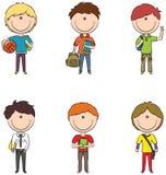Σχολικά αγόρια Στοκ Εικόνα