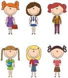 Σχολικά κορίτσια Στοκ Φωτογραφία