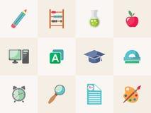 σχολική καθορισμένη διαφάνεια εικονιδίων 10 editable eps πλήρως Στοκ φωτογραφίες με δικαίωμα ελεύθερης χρήσης