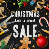 Σχολική πώληση Χριστουγέννων Στοκ εικόνα με δικαίωμα ελεύθερης χρήσης