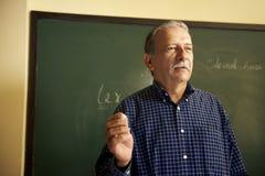 Σχολικοί άνθρωποι, καθηγητής που μιλούν στους σπουδαστές κατά τη διάρκεια του μαθήματος σε ομο Στοκ Εικόνες