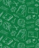 Σχολικό άνευ ραφής σχέδιο Στοκ εικόνα με δικαίωμα ελεύθερης χρήσης