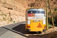 Σχολικό λεωφορείο στο νότιο Μαρόκο Στοκ Εικόνες