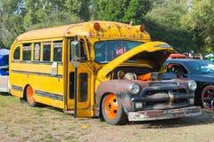 Σχολικό λεωφορείο Chevrolet στην επίδειξη Στοκ φωτογραφίες με δικαίωμα ελεύθερης χρήσης