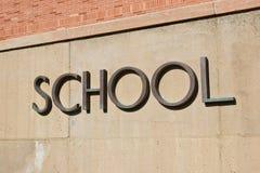 Σχολικό σημάδι Στοκ εικόνες με δικαίωμα ελεύθερης χρήσης