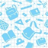 Σχολικό σχέδιο με τις προμήθειες εκπαίδευσης Στοκ εικόνα με δικαίωμα ελεύθερης χρήσης