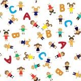 Σχολικό σχέδιο παιδιών άνευ ραφής Στοκ Εικόνα