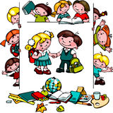 Σχολικό σύνολο παιδιών Στοκ εικόνα με δικαίωμα ελεύθερης χρήσης