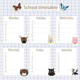 Σχολικό χρονοδιάγραμμα ελεύθερη απεικόνιση δικαιώματος