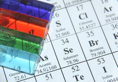 σωλήνας δοκιμής σειράς χημείας Στοκ εικόνα με δικαίωμα ελεύθερης χρήσης