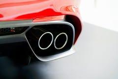 Σωλήνας σωρών εξάτμισης στα ιταλικά αυτοκίνητο Στοκ εικόνα με δικαίωμα ελεύθερης χρήσης
