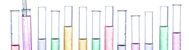 Σωλήνας χημείας πανοράματος Στοκ Εικόνες