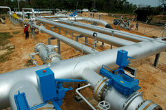 σωλήνες δικτύων αερίου στοκ φωτογραφία
