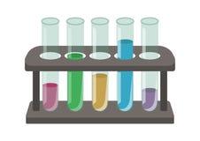 Σωλήνες δοκιμής και στάση απεικόνιση αποθεμάτων
