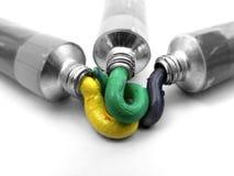 σωλήνες χρωμάτων Στοκ Εικόνες