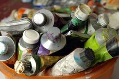 σωλήνες χρωμάτων Στοκ εικόνες με δικαίωμα ελεύθερης χρήσης
