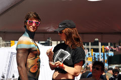 σωμάτων gettng μοντέλο που χρωμ&a στοκ εικόνα με δικαίωμα ελεύθερης χρήσης