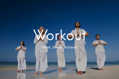 Σωματική δραστηριότητα άσκησης Workout που εκπαιδεύει την καρδιο έννοια στοκ εικόνα