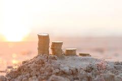 Σωροί νομισμάτων λιβρών στοκ φωτογραφίες με δικαίωμα ελεύθερης χρήσης