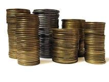 σωροί νομισμάτων Στοκ φωτογραφία με δικαίωμα ελεύθερης χρήσης