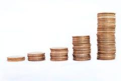 σωροί νομισμάτων Στοκ Εικόνες