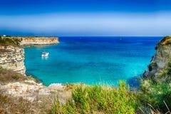 Σωροί στην ακτή Apulia στην Ιταλία Στοκ Φωτογραφίες