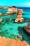 Σωροί στην ακτή Apulia στην Ιταλία Στοκ φωτογραφίες με δικαίωμα ελεύθερης χρήσης
