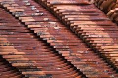Σωροί του κεραμικού υλικού κατασκευής σκεπής Στοκ φωτογραφία με δικαίωμα ελεύθερης χρήσης