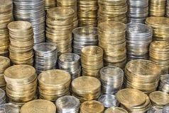 Σωροί του ουκρανικού υποβάθρου νομισμάτων Στοκ φωτογραφίες με δικαίωμα ελεύθερης χρήσης
