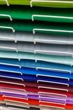 Σωροί του χρωματισμένου χαρτονιού για το σχέδιο στοκ φωτογραφίες
