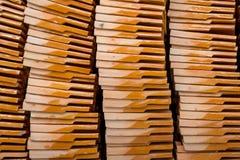 Σωροί των κεραμιδιών στεγών τερακότας Στοκ Φωτογραφία