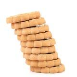 Σωροί των μπισκότων όπως τον πύργο piza. Στοκ εικόνα με δικαίωμα ελεύθερης χρήσης
