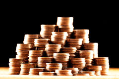 Σωροί των παλαιών χρυσών νομισμάτων Στοκ Εικόνα