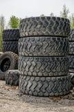 Σωροί των ροδών μηχανημάτων Στοκ Εικόνα