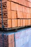 Σωροί των τούβλων πυριτικών αλάτων Στοκ εικόνα με δικαίωμα ελεύθερης χρήσης