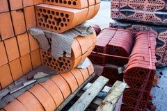 Σωροί των τούβλων πυριτικών αλάτων Στοκ Εικόνα