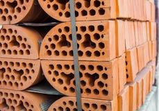 Σωροί των τούβλων πυριτικών αλάτων Στοκ Φωτογραφία