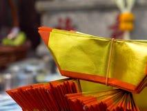 Σωροί χρημάτων πνευμάτων, σέβας των νεκρών, Ταϊλάνδη Στοκ εικόνα με δικαίωμα ελεύθερης χρήσης
