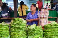 Σωροί betel των φύλλων για την πώληση σε μια αγορά στο Μιανμάρ στοκ φωτογραφία με δικαίωμα ελεύθερης χρήσης