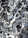 Σωρός απορρίματος αλουμινίου και μετάλλων στο ανακύκλωσης εργοστάσιο Στοκ εικόνα με δικαίωμα ελεύθερης χρήσης