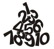σωρός αριθμού Στοκ φωτογραφία με δικαίωμα ελεύθερης χρήσης